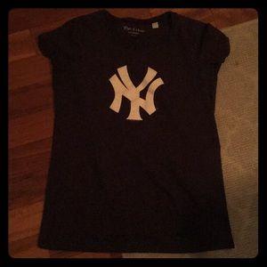 MATERNITY blue Yankees t shirt